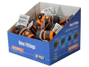 Plastic Water Stop Hose Connector 1/2in (Box 30)